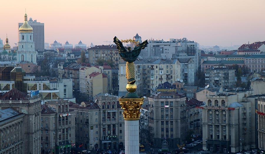 Kiev Ukraine Maidan Square monument