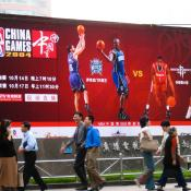 NBA billboard in China
